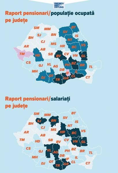 pensionari versus populatie ocupata
