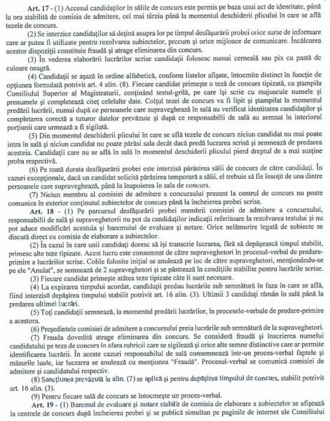 regulament admitere 2019 absolvire INM