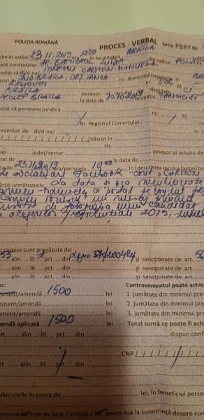 amenda politie postare facebook