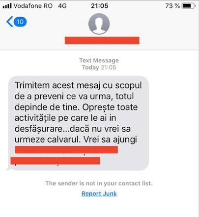 amenintare moartea emilia sercan politie