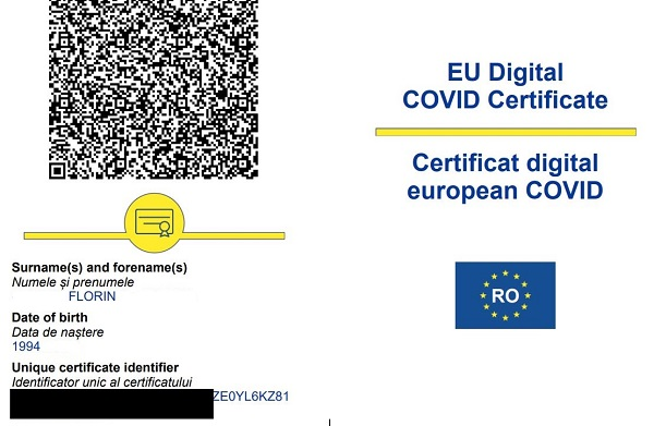 Certificatul verde Covid devine obligatoriu in Romania
