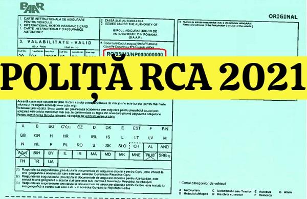 Dispare polita RCA valabila doar in Romania
