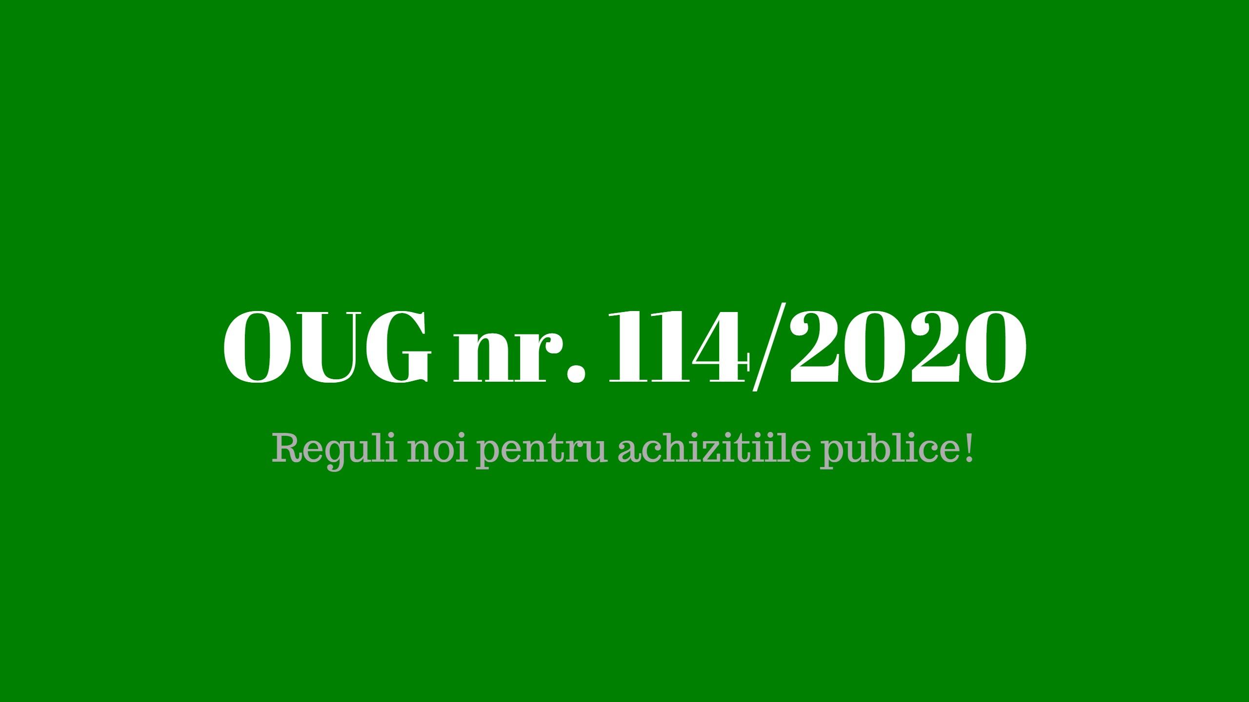 OUG nr. 114 din 2020 modifica legislatia privind achizitiile publice