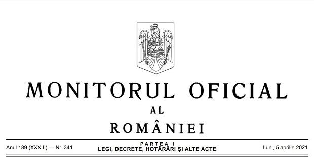 Monitorul Oficial nr. 341 din 2021, primul gratuit!