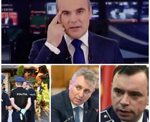 Europol: Rares Bogdan, nemultumit de prezenta politistilor in public, a sunat ministrul de Interne pentru a cere schimbarea controalelor