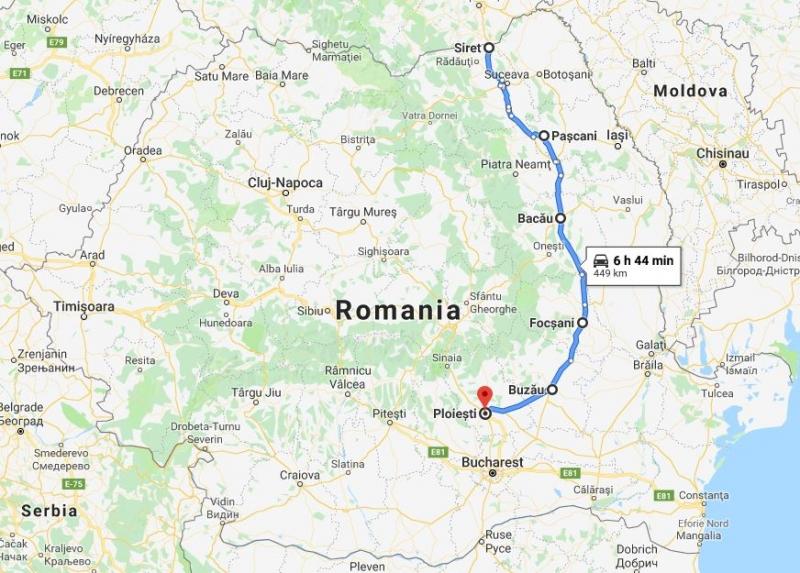 autostrada unirii principatelor roman siret ploiesti