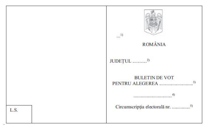 hotararea 17 aep buletin de vot parlamentare