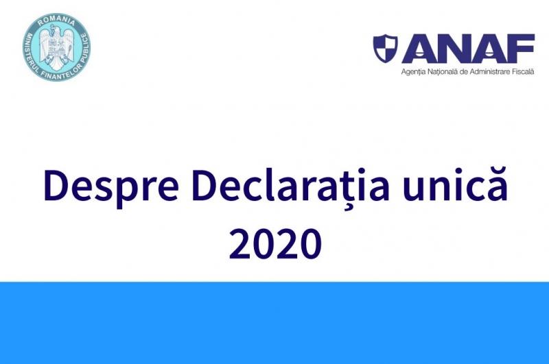declaratia unica 2020 ghid