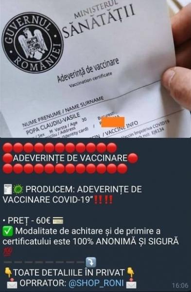 falsificare adeverinta vaccinare pedeapsa
