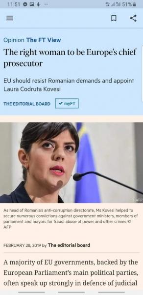 mesaj ft kovesi procuror european