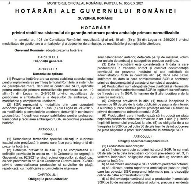 sistem garantie returnare sgr hg 1074 din 2021