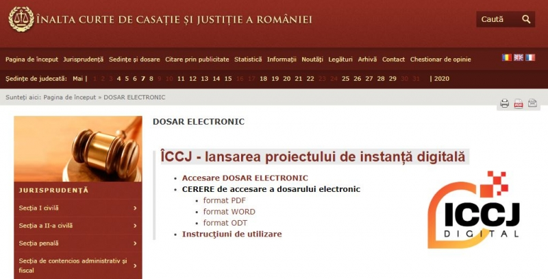 dosarul electronic iccj