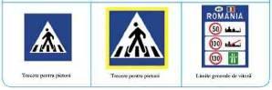 Indicatoare de semnalizare a trecerilor de pietoni