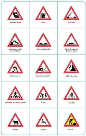 Indicatoarea rutiere de atentionare -trecere de pietoni, atentie copii