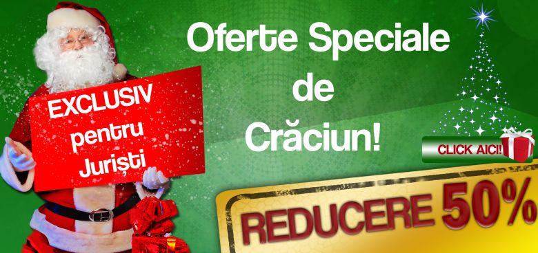 Oferta Speciala de Craciun: Exclusiv pentru Juristi