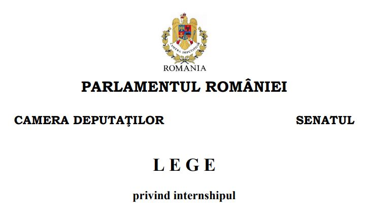 legea internshipului actualizata