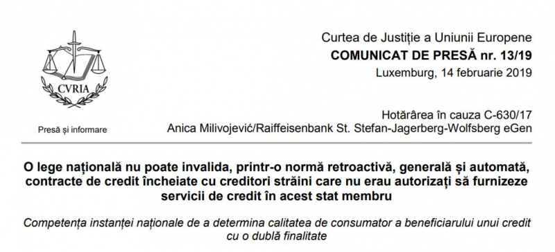 anulare retroactiva contract de credit