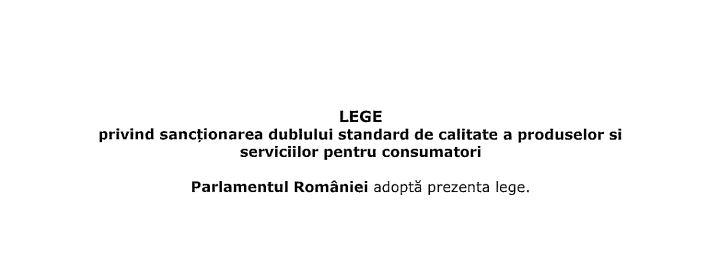 lege sanctionare dublu standard