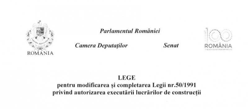legea constructiilor modificata