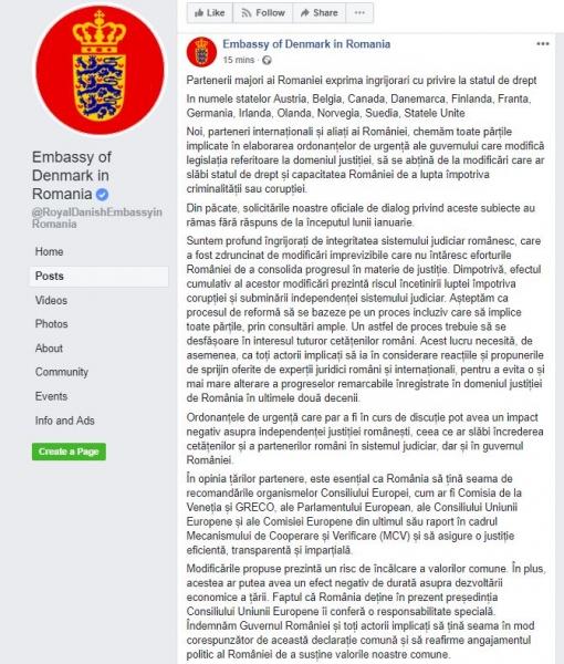 mesaj ambasada danemarcei