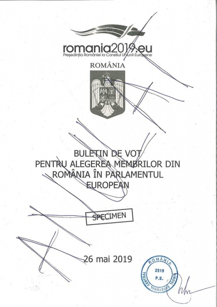 model buletin de vot europarlamentare