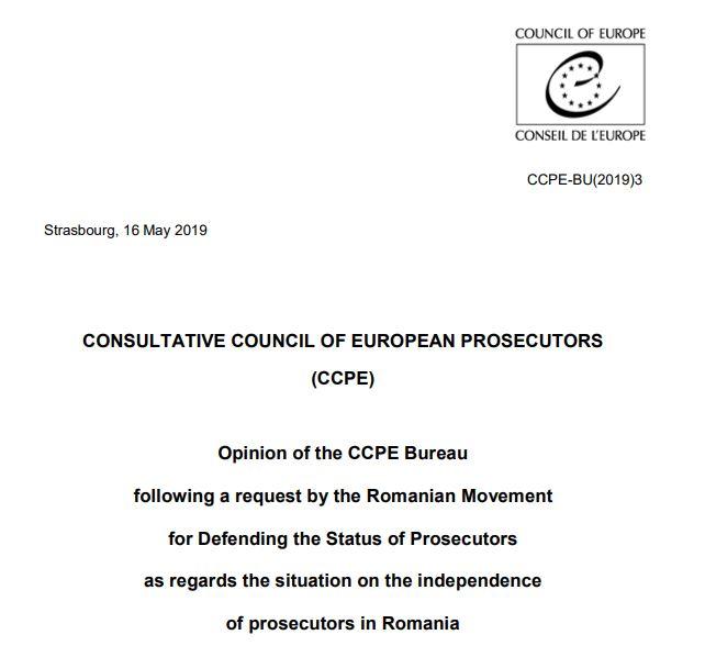 consiliul consultativ al procurorilor europeni romania