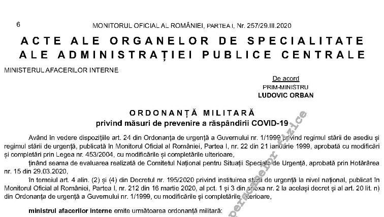 ordonanta militara 4/2020
