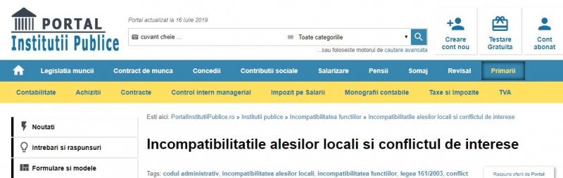 portal institutii codul administrativ