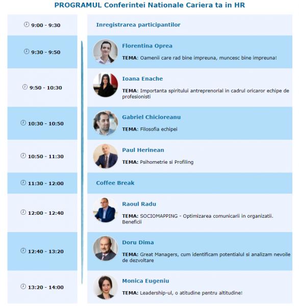 program conferinta nationala de hr