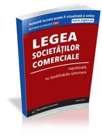 Legea societatilor comerciale, republicata, cu modificarile ulterioare