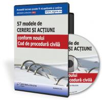 Modele de cereri si actiuni conform noul Cod de procedura civila