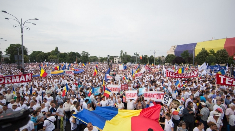 protest diaspora bucuresti