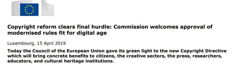 reform copyright directiva adoptata