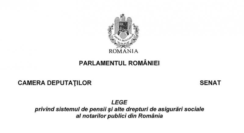 reglementare unitara pensii notari publici