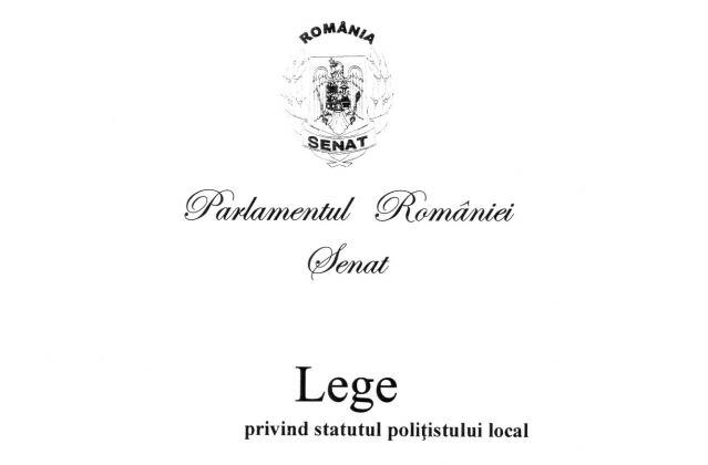 statut politisti locali