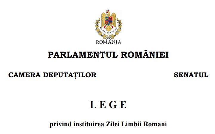 ziua limbii romani lege romania
